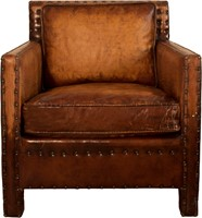 CHAIR ROME ANTIQUE LEATHER