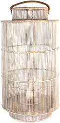 DECORATION LANTERN XL ARRAS METAL FRAME WHITE WASH