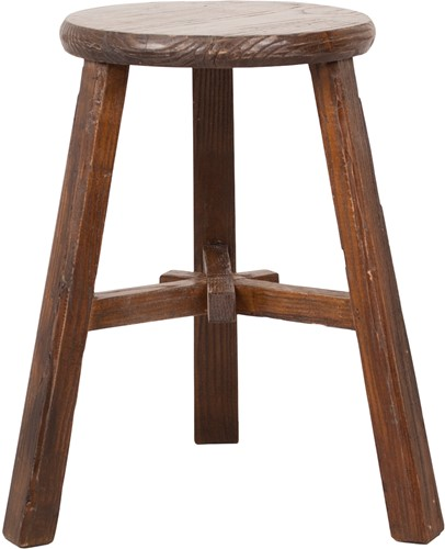 SMALL FURNITURE STOOL ROUND NATURAL
