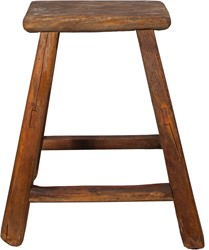 SMALL FURNITURE STOOL RECTANGULAR NATURAL