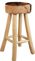 BARSTOOL ROUND LEATHER-1
