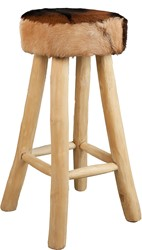 BARSTOOL ROUND LEATHER