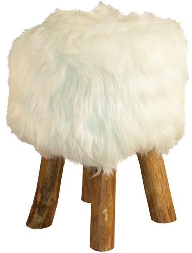 FOOTSTOOL ROUND/ WOOL