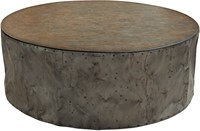 SALONTAFEL DRUM RUSTIC GREY 120 ROND-2