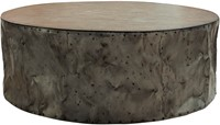 SALONTAFEL DRUM RUSTIC GREY 120 ROND-1