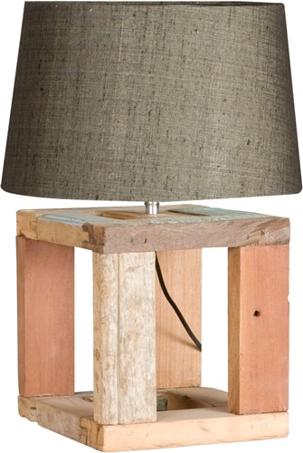 LAMP WOODEN NATUREL