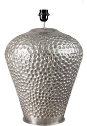 LIGHTING BASE LUNEL BRASS SILVER ANTIQUE   SHADE RL 60/35/31 PEONY BLACK
