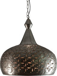 HANGLAMP  LIBORNE BRASS SILVER ANTIQUE