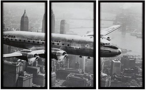 SCHILDERIJ 3 - LUIK AIRCRAFT FLYING
