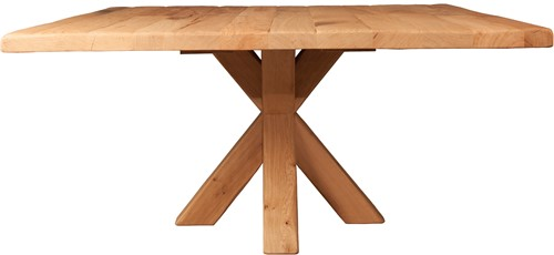 EETTAFEL SQUARE OAK WITH CROSS LEG