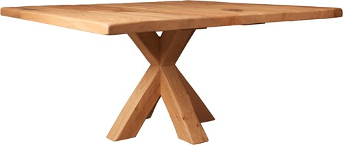 EETTAFEL SQUARE OAK WITH CROSS LEG-2