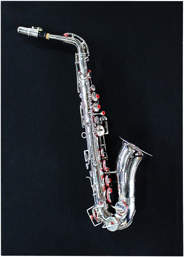 DECORATION SAXOPHONE WITH BLACK BACKING