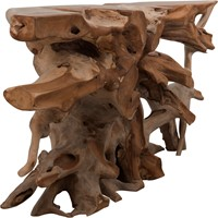 SIDETABLE ROOT TEAK SMALL