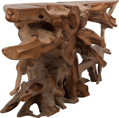 SIDETABLE ROOT TEAK SMALL-2