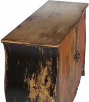 SIDEBOARD JAVA BLACK ORANGE 2 DOORS