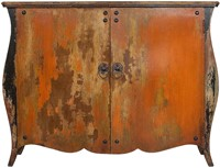 SIDEBOARD JAVA BLACK ORANGE 2 DOORS-1