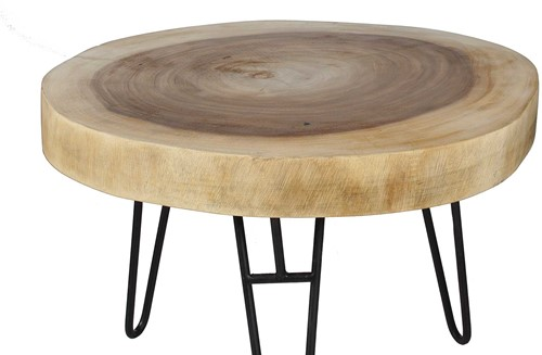 COFFEE TABLE MUNGGUR/ WITH IRON LEGS
