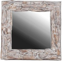 MIRROR RUSTIC MIRROR ROOT NATURAL SQUARE-1