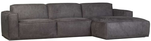 SOFA HUNTER 3S ARM L + OTT R ECO LEATHER ANTRACITE
