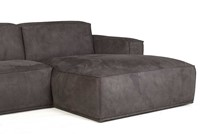 SOFA HUNTER 3S ARM L + OTT R ECO LEATHER ANTRACITE-3