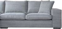 SOFA MILLSBOROUGH ECO LEATHERLIKE SAND 3S ARMR + LCH 3L/ KISS 66 GRAPHITE-3