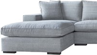 SOFA MILLSBOROUGH ECO LEATHERLIKE SAND 3S ARMR + LCH 3L/ KISS 66 GRAPHITE-2