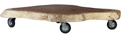 SALONTAFEL MUNGGUR TABLE W/WHEEL OVAL