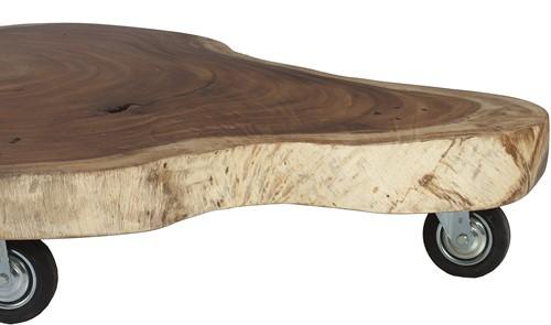 SALONTAFEL MUNGGUR TABLE W/WHEEL MEDIUM SIZE 120-150CM