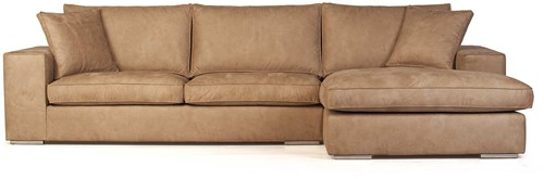 SOFA MILLSBOROUGH ECO LEATHER CAMEL 3S ARML + LCH 3R-2