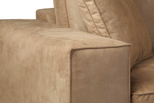 SOFA MILLSBOROUGH ECO LEATHER CAMEL 3S ARML + LCH 3R-3