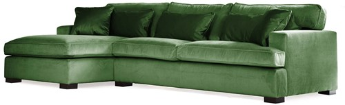 SOFA 3S BRIGHTON ARM R + LCH 170 L DOUGLAS GREEN FIXED UPHOLSTERY