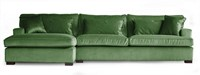 SOFA 3S BRIGHTON ARM R + LCH 170 L DOUGLAS GREEN FIXED UPHOLSTERY-2