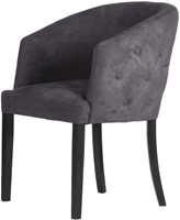 DININGCHAIR MILAN/ ECO LEATHERLIKE ANTRACITE