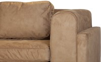 SOFA ALEXANDRIA ECO LEATHER LIKE  CAMEL ARM R OTT L-3
