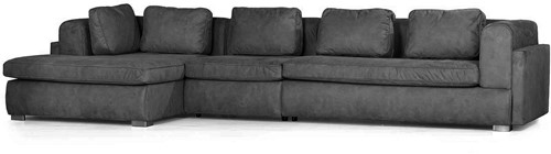 SOFA ALEXANDRIA ECO LEATHERLIKE ANTRACITE ARM R OTT L
