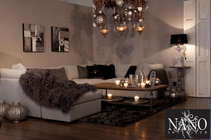 Woonkamer wit landelijk for Landelijk wonen interieur