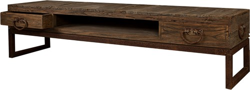 SALONTAFEL TV STAND TAMAR 2 DRAWERS /  OPEN  -2