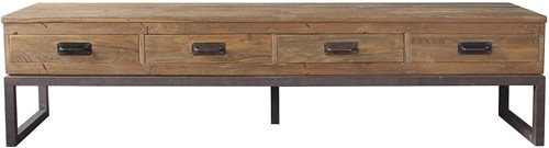 SALONTAFEL TV STAND TAMAR 2 DRAWERS /  OPEN
